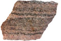 Mit einem Band versehener Gneis des metamorphen Felsens von Karelien Lizenzfreies Stockbild