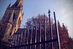 Mit einem Gatter versehene Autumn Of Manchester Lizenzfreies Stockbild