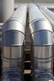 Mit einem Schlauch bespritzen industriell Stockfoto