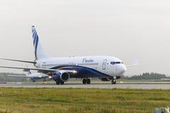 Mit einem Taxi fahren Nordstar-Fluglinien Boeing-737 Lizenzfreie Stockfotos