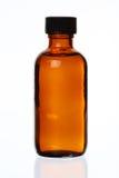 Mit einer Kappe bedeckte generische Medizin-Flasche Lizenzfreies Stockbild
