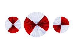 Mit Filigran geschmückte Papierstreifen gefaltet in den Wellen Lizenzfreies Stockbild