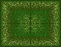 Mit Filigran geschmückter Entwurf in den grünen Abstufungen Stockfotos