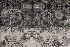Mit Filigran geschmückter Tapisserie Muster-Schwarzweiss-Druck Lizenzfreie Stockbilder