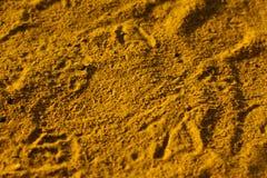 Mit gelbem Sand Stockbilder