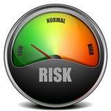 Mit geringem Risiko Messgerät stock abbildung