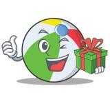 Mit Geschenkballcharakter-Karikaturart Lizenzfreie Stockfotografie