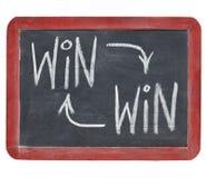 Mit Gewinn für beide Parteien Konzept auf Tafel Stockbilder