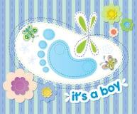 mit Glückwünschen auf der Geburt eines Jungen vektor abbildung