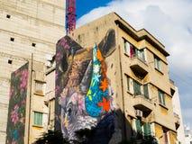 Mit Graffiti in Beirut errichten, der Libanon lizenzfreie stockbilder