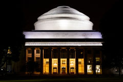 MIT Great Dome at night Royalty Free Stock Photos