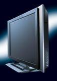 Mit großem Bildschirm Fernsehen   Lizenzfreie Stockfotografie