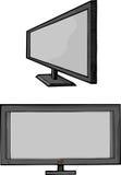 Mit großem Bildschirm Flachbildschirm Fernsehapparat Lizenzfreie Stockfotografie