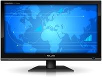 Mit großem Bildschirm TFT Bildschirmanzeige stock abbildung