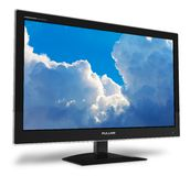 Mit großem Bildschirm TFT Bildschirmanzeige mit blauem Himmel stock abbildung