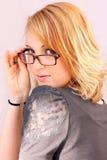 Mit gutem Aussehen der Gläser Stockfotos