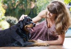 Mit Hund Lizenzfreies Stockbild