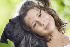Mit Hund stockbilder