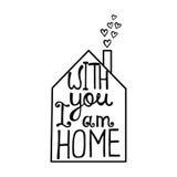 Mit Ihnen bin ich Hauptbeschriftung Romantisches Zitat über Liebe Lizenzfreie Stockbilder