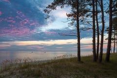 Mit Jet-Skis über der baltischen Ruhe Stockfotos