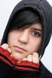 Mit Kapuzenjacke del adolescente Foto de archivo