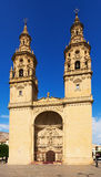 Mit-Kathedrale des Heiligen Maria de la Redonda in Logrono, Spanien Lizenzfreie Stockfotografie