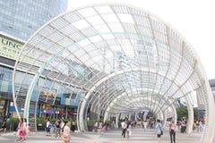 Mit Kunst und moderner Architektur in nanshan zentralem Platz SHENZHENS Lizenzfreie Stockfotografie