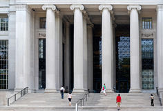 MIT library Stock Photo