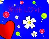 Mit Liebe Stockbild