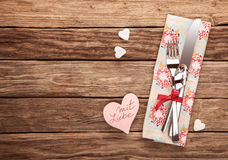 Mit Liebe on Valentines Day or anniversary Royalty Free Stock Image