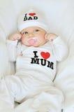 Mit Liebe zur Mama und zum Vati Stockfotografie