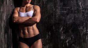 Mit Muskeln Frau Lizenzfreie Stockbilder