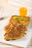 Mit Mutabbaq ein populäres Araberramadan-Lebensmittel wo Brot, wenn Sie angefüllt werden Lizenzfreie Stockfotografie