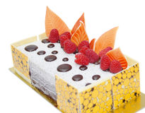 Mit Orangengeschmack Schokoladenkuchen stockbilder