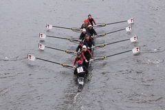 MIT races in the Head of Charles Regatta Women's Master Eights Royalty Free Stock Photo