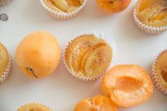 mit reifen Aprikosenfrüchten stockbild