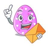 Mit Umschlagkarikaturform-Ostern-Farbe auf Eiern lizenzfreie abbildung