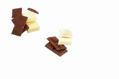 Mit und braune Schokolade Stockfotografie