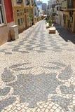 Mit Ziegeln gedeckte Pflasterung in Lagos, Portugal Lizenzfreies Stockbild