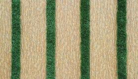 Mit Ziegeln gedeckte Wand mit grünem Gras Lizenzfreies Stockbild