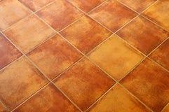 Mit Ziegeln gedeckter Fußboden Lizenzfreie Stockbilder