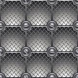 Mit Ziegeln gedeckter Metallhintergrund. Stockfotografie