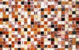 Mit Ziegeln gedeckter Mosaikhintergrund Lizenzfreie Stockbilder