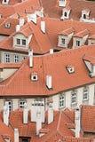 Mit Ziegeln gedecktes Dach Stockfoto