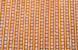 Mit Ziegeln gedecktes Dach Stockfotografie