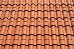 Mit Ziegeln gedecktes Hausdach Lizenzfreies Stockbild
