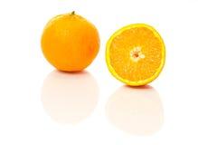 Mitad anaranjada Fotos de archivo libres de regalías