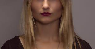 Mitad de la cara de la hembra de la belleza Pómulos hermosos Imagen de archivo libre de regalías
