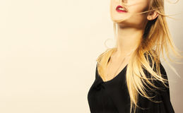 Mitad de la cara de la hembra de la belleza Pómulos hermosos Foto de archivo libre de regalías