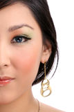 Mitad de la cara femenina Fotografía de archivo libre de regalías